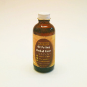 TAYLOR'S Oil Pulling - Herbal Rinse {Natural Oral Care} * w/ Ancient Black Seed & Hawaiian Macadamia Nut Oil * Stored in GLASS