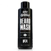 Wild Willies Beard Wash Packed with Organic Oils and Nutrients to Shampoo and Soften Your Beard, while Peppermint & Eucalyptus Leave An Incredible Tingle. Proudly American Made!