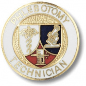 EMI Phlebotomy Technican Emblem Pin - Round