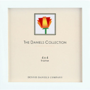 The Original DANIELS W41 Square Corner GALLERY WOODS Bright White finish square 4x4 frame by Dennis Daniels® - 4x4