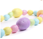 Factory Direct Craft® Glittered Pastel Foam Assorted Size Easter Egg Garland