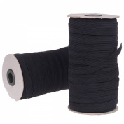Cotowin 1.3cm Black Braided Polyester Elastic Roll