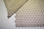 Altotux 90cm Daisy Venice Lace Fabric All Over Both Side Scalloped Edge 9 colours