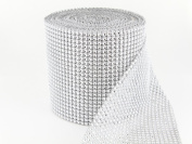 Sparkles Make It Special 12cm 24 Row Rhinestone Ribbon Wrap 10 Yards Wedding Cake Banding Diamond Silver