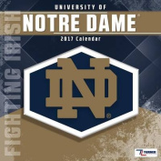 Cal 2017 Notre Dame Fighting Irish 2017 12x12 Team Wall Calendar