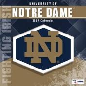 Cal 2017 Notre Dame Fighting Irish 2017 12x12 Team Wall Calendar