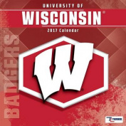 Cal 2017 Wisconsin Badgers 2017 12x12 Team Wall Calendar