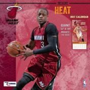 Cal 2017 Miami Heat 2017 12x12 Team Wall Calendar