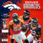 Cal 2017 Denver Broncos 2017 12x12 Team Wall Calendar
