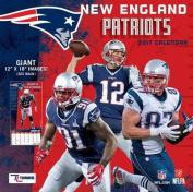 Cal 2017 New England Patriots 2017 12x12 Team Wall Calendar