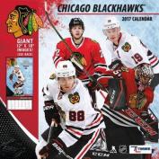 Cal 2017 Chicago Blackhawks 2017 12x12 Team Wall Calendar