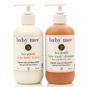 Best Baby Body Lotion and Wash Shampoo Gift Set Organic Aloe, Organic Chamomile, Shea Butter & Honey. Daily Moisturiser & Shampoo Are Earth Friendly & Mama Approved Essentials for Your Adorable Angel.