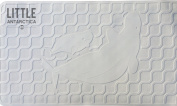LittleAntarctica Beluga Whale Bathtub Mat-Anti-Bacterial/Mildew Resistant 100% Natural Rubber Unscented Non-slip Bath Mat 41cm x 70cm