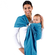 Beco Baby Carrier - Ring Sling Carrier - Natural Wrap for Baby from Birth to Toddler - Fashionable and Comfortable - Ocean
