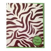 Green Zebra Striped Pregnancy Organiser Planner Prego Book 2 Tot Tags