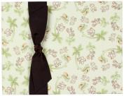 Tessera Baby Books Memory Ribbon, Monkeys with Brown Grosgrain/Cream