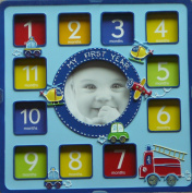 First Impressions My First Year Photo Frame - Baby Boy Blue