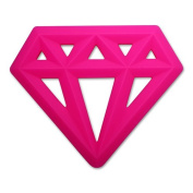 Little Standout Silicone Diamond Teething Toy - Pink