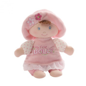 Gund Baby My First Dolly Brunette Rattle, 18cm