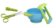 Zoli Baby Snip Ceramic 15cm Scissor - Green with Mash and Serve Bowl