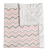 Pink Everyday Chevron Patterned Minky Dot Blanket