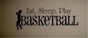 VINYL WALL DECAL STICKER EAT SLEEP PLAY BASKETBALL KIDS ROOM HOME DECOR SPORTS HOBBIES OUTDOORS