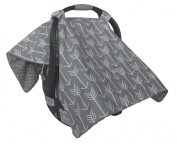 Two Smart Babies Premium Carseat Canopy with Arrow Design