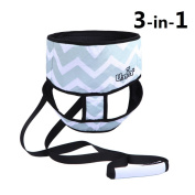 Umin 3 in 1 Travel/Home Portable High Chair Belt + Toddler Safety Walking Harness Wrap + Shopping Cart Safety Strap, Lightweigh & Washab,Chevron