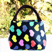 Wowlife Cute Love Heart Lunch Bag Tote Bag Lunch Organiser Lunch Holder Lunch Container Reusable Lunch Bags