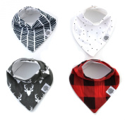 Baby Bandana Drool Bibs by The Good Baby - 4 Pack Organic Cotton - Baby Bib Gift Set for Boys, Girls or Unisex