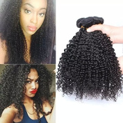 Sunwell 100% Unprocessed 6A Brazilian Virgin Kinky Curly Human Hair Weaves 3 Bundles Mix Length Hair Extensions Deep Curly Rosa Hair Products Natural Black Colour