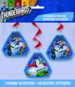 3 Thunderbirds Hanging Decorations Swirls Party Supplies Birthday