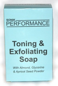 EXTREME GLOW | SKIN LIGHTENING | WHITENING | BLEACHING | TONING | BRIGHTENING | EXFOLIATING SOAP 200G - By SONIK PERFORMANCE - with almond, glycerin & apricot seed powder
