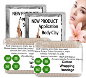 Special offer Natural body clay cream lipo application packs 2 cotton bandages it works in aiding inch loss slimming detox wrap kit multiply treatments thighs waist belly 2 sauna wraps. TO UK MAIN LAND