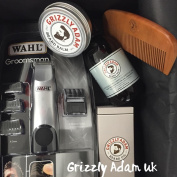 Grizzly Adam Beard Grooming Set For Men - Complete Beard Care Kit With Trimmer, Beard Wash Shampoo 200ml, Beard Balm 60ml, Beard Oil 100ml and Beard Comb - Premium Beard Care Gift Set + Wahl Beard Trimmer