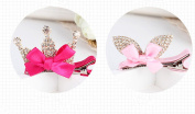 cuhair(TM) 2pcs crystal bow desgin for girl hair clip Barrettes claw accessories