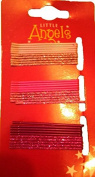 Pack of 30 Small Pink Barrettes Pailletees