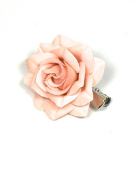 Small Pastel Rose On A Forked Hair Clip Weddings, Formal, Prom Bridsmaid Flower