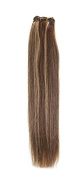Euro Silky Weave | Human Hair Extensions | 46cm | Brown / Bronze Blonde Mix (P4/27) American Pride