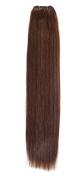 Euro Silky Weave | Human Hair Extensions | 46cm | Dark Red Head (33) American Pride