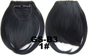 #1 100% High Temperature Synthetic Fibre Clip In/On Front Hair Fringe Hair Bangs