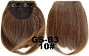 #10 100% High Temperature Synthetic Fibre Clip In/On Front Hair Fringe Hair Bangs