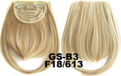 #18_613F 100% High Temperature Synthetic Fibre Clip In/On Front Hair Fringe Hair Bangs