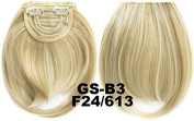 #24_613F 100% High Temperature Synthetic Fibre Clip In/On Front Hair Fringe Hair Bangs