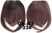 #33 100% High Temperature Synthetic Fibre Clip In/On Front Hair Fringe Hair Bangs
