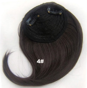 #4 Synthetic Hair Clip In/On Side Hair Fringe/Bangs