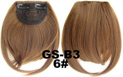 #6 100% High Temperature Synthetic Fibre Clip In/On Front Hair Fringe Hair Bangs