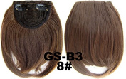 #8 100% High Temperature Synthetic Fibre Clip In/On Front Hair Fringe Hair Bangs