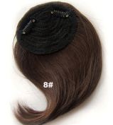 #8 Synthetic Hair Clip In/On Side Hair Fringe/Bangs