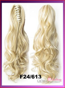 #F24/613 Wavy Claw Hair Ponytail Hair Pieces